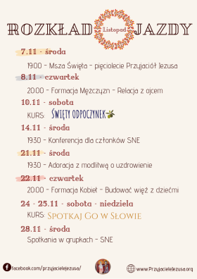 Plan na listopad