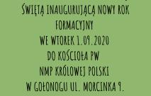 Inauguracja nowego rokuformacyjnego